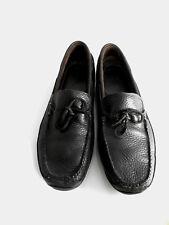 LL. BEAN Men's DarkBROWN Leather MoccasinStyle Slip-On LOAFER sz:12D