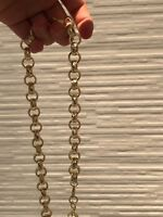 "Men's New 24ct Gold gf Diamond Cut Belcher Chain 12mm x 24"" FREE Luxury Gift Box"