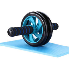 IG_ Simple Exercise Roller Abdominal Muscle Workout Fitness Wheel with Knee Pad