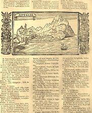 TURQUÍA, ANTALIA, VISTA ORIGINAL DE LASOR A VAREA, 1713