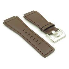 DASSARI Magnum Dark Brown Genuine Leather Watch Band Strap for Bell & Ross 24mm