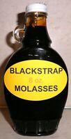 Organic BLACKSTRAP MOLASSES Pancake & Waffle Syrup, 8 oz. Bottle, All Natural