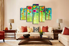 Huge Abstract Wall Decor Art Oil Painting on Canvas 5pcs NO frame Flowers WL326