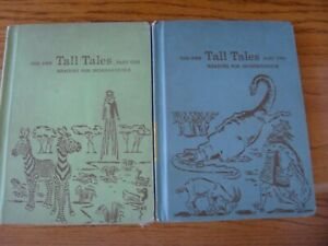 Vintage The New Tall Tales Reading For Independence Part One & Two 1959 Set of 2