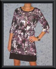 Regular Size Geometric Polyester Tunic Dresses for Women
