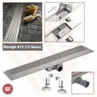 """Rectangular"" Stainless Steel Shower, Wetroom Drainage Gully (300mm to 2000mm)"