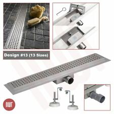 """""""Rectangular"""" Stainless Steel Shower, Wetroom Drainage Gully (300mm to 2000mm)"""