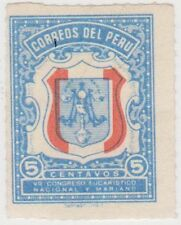 (PU200) 1954 Peru 5c blue & red (A) ow796