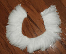 Strung Rooster Neck Hackle Off White 18 Inches, Crafts, Costumes, Formal, Hats