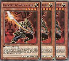 3 X YU-GI-OH: LEGENDARY SIX SAMURAI - ENISHI - SDWA-EN017 - 1st EDITION