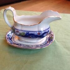 MINTON Chinese Dragon and Bird Gravy Boat and plate small chip