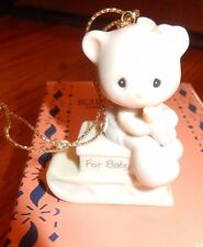 Precious Moments May Your Christmas Be Warm Bear Ornament 470279 1998 Mib