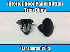 50x Clips Para VW Transporter T2 T3 Interior Puerta Panel Botón De Ajuste De Plástico Negro