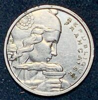 1957 France 100 Francs Copper-Nickel  Y#101  (1052)