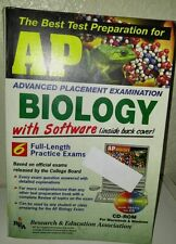 AP BIOLOGY REA College Entrance 6 Full Practice Exams + CD ROM DETAILED Answers