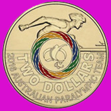 2016 RIO OLYMPIC $2 COIN - AUSTRALIAN ISSUE - PARALYMPIC - EX BAG UNCIRCULATED