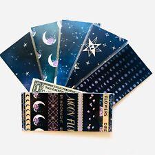 Laminated Cash Envelope Handmade DAVE RAMSEY Budget System Celestial Magic Moon