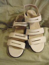 Propet women's white leather strappy sandal low heel size 9 WW or X/2E ?9 1/2-10