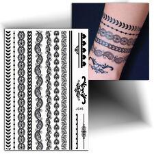 ►TATOUAGE TEMPORAIRE bracelet (éphémère, flash tattoo, faux tattoo femme)◄