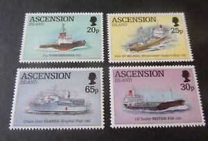 Ascension 1994 Civilian Ships Liberation Falklands SG629/32 MNH UM unmounted