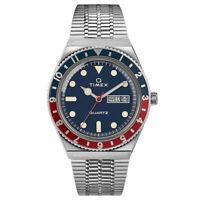 Q Timex Reissue Stainless Steel Pepsi Blue Red Bezel Watch TW2T80700