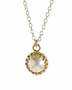 Gold pearl necklace 14k Yellow Gold Filled SWAROVSKI PEARL