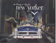 [61455] 1952 CHRYSLER NEW YORKER SALES BROCHURE (ONTARIO, CALIFORNIA DEALER)