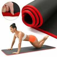 Yoga Mat Extra Thick QUALITY 10mm Pilates Non-slip Pad For Men Women Fitness