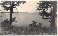 1920's RPPC Trees Shore Manhasset Bay LI NY