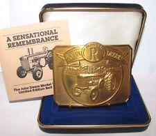 John Deere 1990 Model R Tractor Belt Buckle LIMITED EDITION #0495 of 6000 Gold