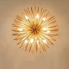 Modern Gold Ceiling Pendant Sputnik Light Chandelier Lamp Lighting Fixture Decor