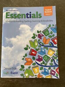 Logic Of English Second Edition Essentials Student Workbook Volume 1 Homeschool