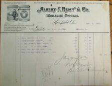 'Home Guard' Police Man Peach Can Label Vignette 1892 Letterhead - Mansfield, OH