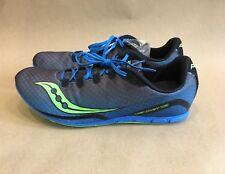 Saucony Vendetta Mens Track Spike Racing Shoe Grey/Blue/Slime 11.5