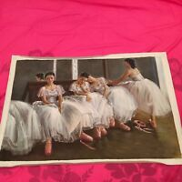 """Ballet Dancer at Rest 24x36"""" reproduction oil painting unframed free shipping"""