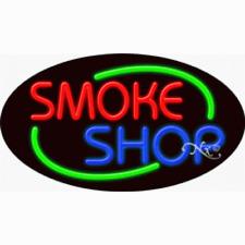 New Smoke Shop 30x17 Oval Border Real Neon Sign Withcustom Options 14645