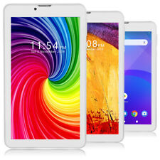 "GSM Unlocked! 4G Smart Phone 7"" Tablet Quad Core DualSim Google Play Store White"