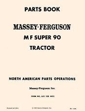 Massey Ferguson MF Super 90 MF90 Tractor Parts Book Manual