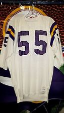 AMOS MARTIN #55 MINNESOTA VIKINGS ROAD WHITE SAND-KNIT GAME JERSEY 1970'S SZ 46