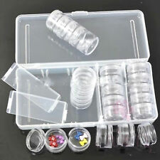 25 PCS Empty Nail Art Storage Box Case Set For Rhinestone Glitter Bead Sequins