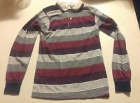 000 Vintage BTK Size 16 Youth Long Sleeve Stripe Multi Color Shirt 50/50 Blend