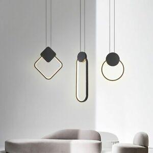 Hanging LED Pendant Lamp Modern 12W Aluminum Fixtures Pendant Lights Bar Room