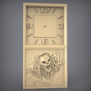 (879) STL Model Clock for CNC Router 3D Printer  Artcam Aspire Bas Relief