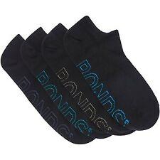 BONDS Lightweight No Show Mens Black Sports Socks 4 PACK SZ 6 - 10 2 PACK LOT