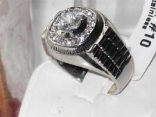 Diamond Stainless Steel Rings for Men