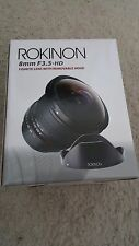 Rokinon 8mm f/3.5 HD Lens For Canon