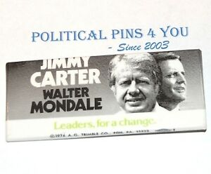 1976 JIMMY CARTER campaign pin pinback button political presidential election