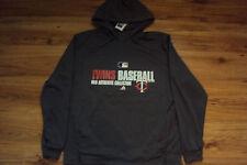 MINNESOTA TWINS MAJESTIC MLB TEAM FAVORITE 1/4 ZIP AUTHENTIC HOODED SWEATSHIRT
