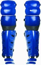 Nike De3539 Blue Color 16 Inch Baseball Leg Guards Msrp $240 New With Tags