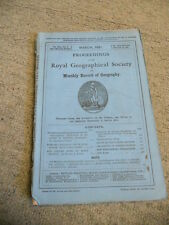 Proceedings of the Royal Geographical Society, Vol. XIII., No. 3., March, 1891